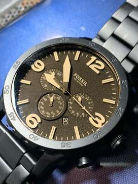 Fossil  49 Fossil Watch Nate Chronograph Brown Dial Men's Watch