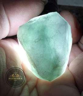 Bahan Batu Giok Burma Lumut Hijau Natural Jadeite Jade Pola Jumbo