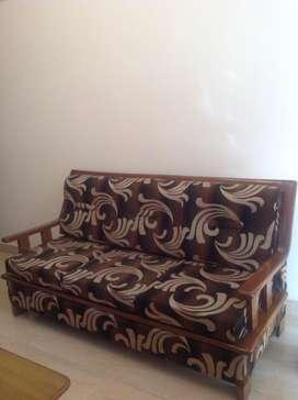 Teak wood - Sofa set 5 seater + Teak wood center Table for Sale!