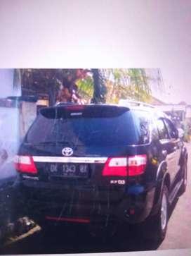 Jual Toyota Fortuner glux AT 2009 hitam metalik