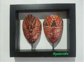 Frame Topeng Couple Hanging