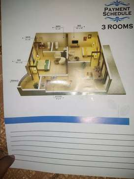 3 rooms Flat Times Residency Surjani Town