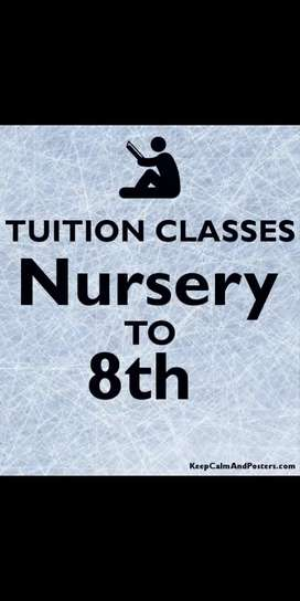 Nursery to 8th tuition
