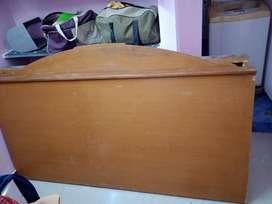Double wooden cot