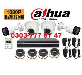 2MP CCTV 4 Camera Night Vision Online & Water Proof Brand New