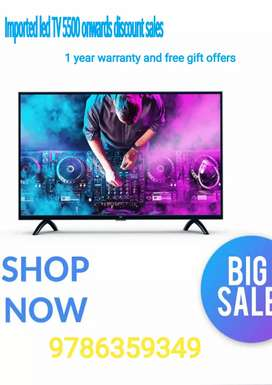Sony imported led tv 5500 onwards discount sales 1 year warranty