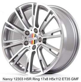 velg hsr type NANCY 12303 HSR R17X8 H5X112 ET35 GMF