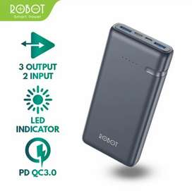 Power Bank Robot RT21 20000mAh 3A 18W 3 Output QC PD 3.0 Powerbank