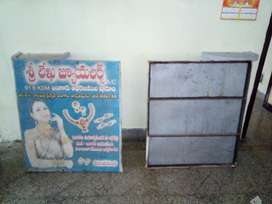 3'/4' Size iron Pole Advertisement Bords welded with iron sheet.