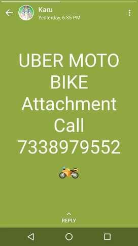 UBER MOTO Bike attachment (bike taxi)
