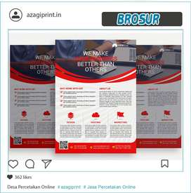 Paket Hemat - Brosur Bahan Ap 120- 1 sisi - Size A5 1 Rim