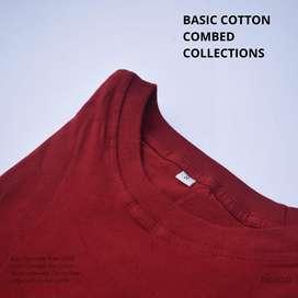 Kaos polos merah maroon premium cotton combed 30s