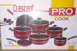 "Crockery non-stick set 15 pieces ""Pro-cock"""