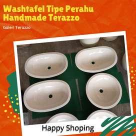Washtafel Tipe Perahu Handmade Terazzo