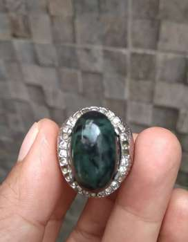 HARGA PROMO Cincin Natural Batu Giok Hitam (Black Jade) Aceh