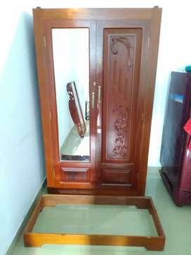 Almirah  wood Cheru Thekku (Malayalam: ചെരുതെക്ക്) wood cupboard