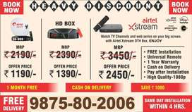 airteldth new connection settopbox lower price tatasky festival offer