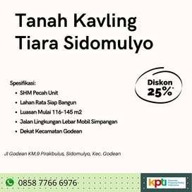 Dijual Tanah Murah Tiara Sidomulyo Diskon 25% SHM Dekat kota Jogja