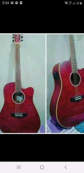 Semi acoustic guitar with equalizer