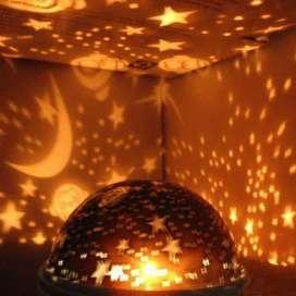 Lampu Ruangan Proyektor Bulan Bintang