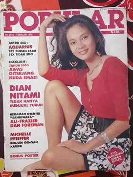Majalah popular tahun 1990 cover dian nitami