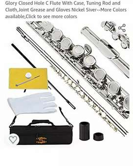 Glory Closed hole C flute nickel silver color, new item.
