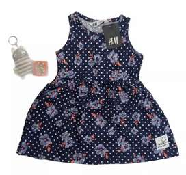 Girls EXPORT PRINTED SLEEVELESS FROCK