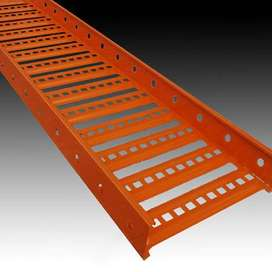 Cable Trays Ladder Perforated SS Mesh Duct Solid Bottom GI Hot Dip Gal