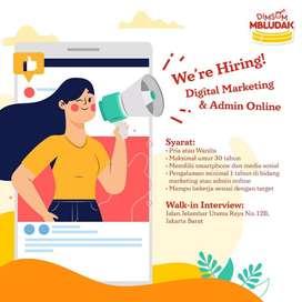 lowongan pekerjaan Digital marketing dan admin online dimsum mbludak