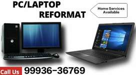 PC and Laptop Formatting - 150/-