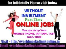 . Part time/Full time Jobs for all students/housewives/freshers/retire