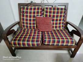 2 Seater Solid Wood Sofa