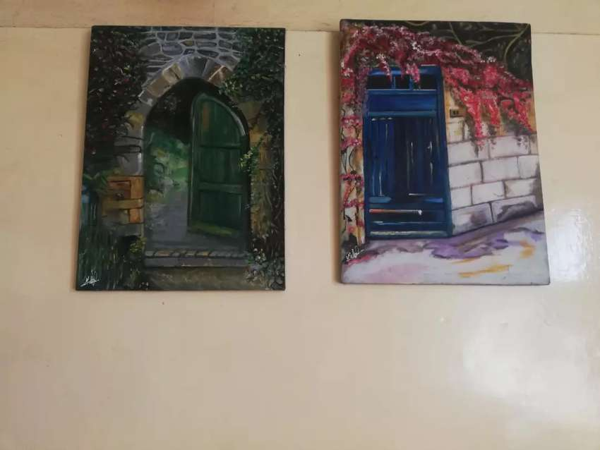 Set of door themed paintings 0