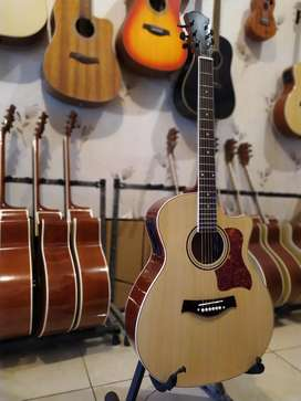 Gitar meranti akustik elektrik 7545R