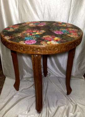 Console table teak wood