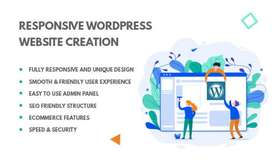 I will build responsive wordpress website design and landing page
