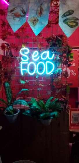 Neon flex seafood