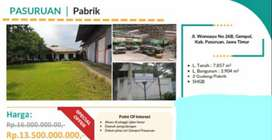 Dijual Gudang Pabrik Wonoayu Pasuruan Strategis Jalan Raya