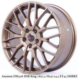 jual velg racing HSR WHEEL model anemon dm308 hsr ring18 buat alphard