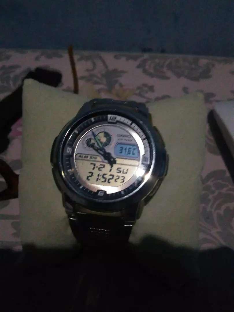 Casio aqf 102w thermometer suhu 0