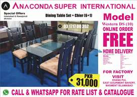 Dining Table Set Hi Class Center Table Set and Wood FurnitureFactory