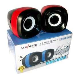 Speaker/spiker komputer/laptop advance Duo 040-aux-mp3/mp4-ngebass-oke