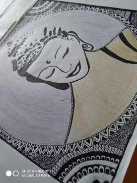 Mandala painting.. Negotiable price
