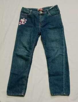 Celana panjang Jeans denim Biru SNOOPY asli Pinggang karet Lp 74 cm
