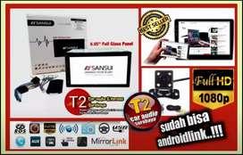 Terhitz dech dvd 2din SANSUI JAPAN android link led 7inc+camera hd