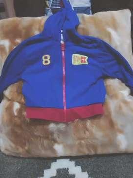 jaket biru merek hipo baby ukuran L