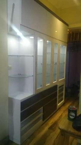 Menerima pesanan custom meubel interior kitchen lemari free design