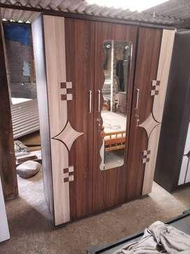 navsari three door wardrobe with star design