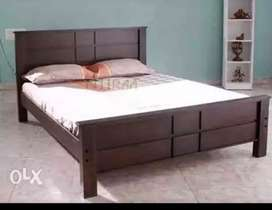 New 4*6 wooden double cot+mattress only 6999