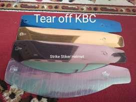 Tear off helm kyt kbc nhk